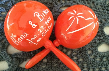Las Caletas Wedding Maracas