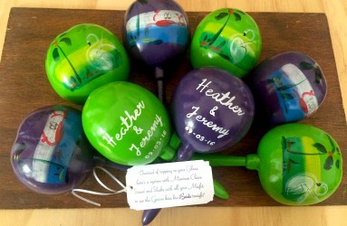 Maracas Wedding Favors