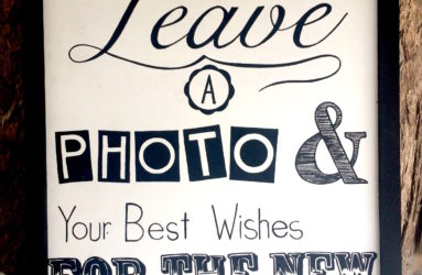 Leave a Photo Sign