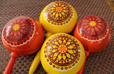 Custom Painted Maracas