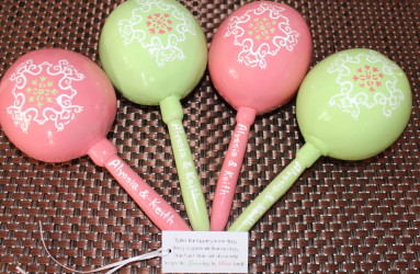 Custom Wedding Maracas