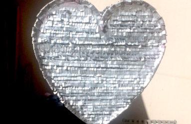 Silver Heart Piñata