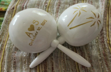 Maracas for Wedding Favors