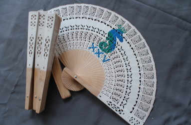 Wood Sandal Fan