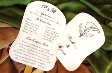 Wedding Paper Fan